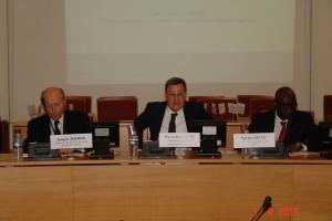 Pierre-Luc Vogel et Alain Toubon à la tribune du colloque.